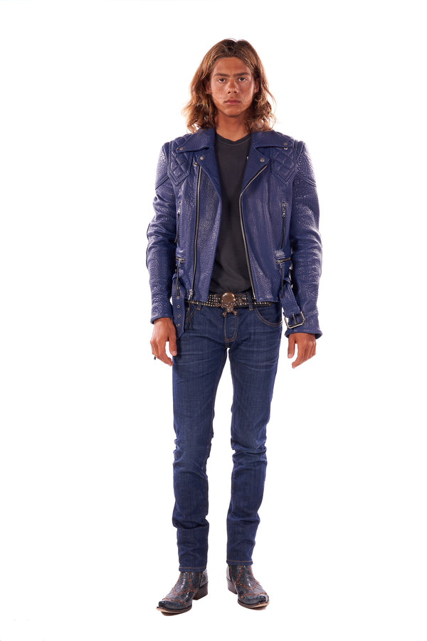 Vinny/ Caravaggio Moto Jacket Royal Blue