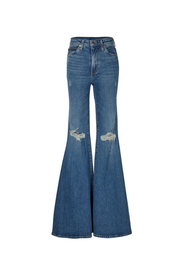 Stretch Denim Super High Rise Super Bell Pant Astor