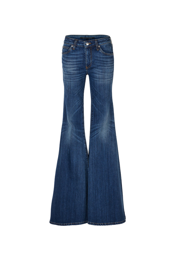 Stretch Denim Low Rise Super Flare Pant Garbo