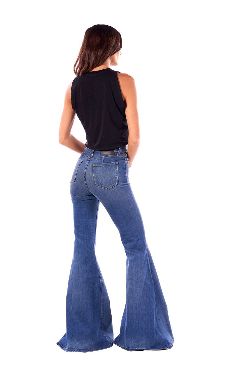 Stretch Denim Super High Rise Super Bell Pant Taylor Medium
