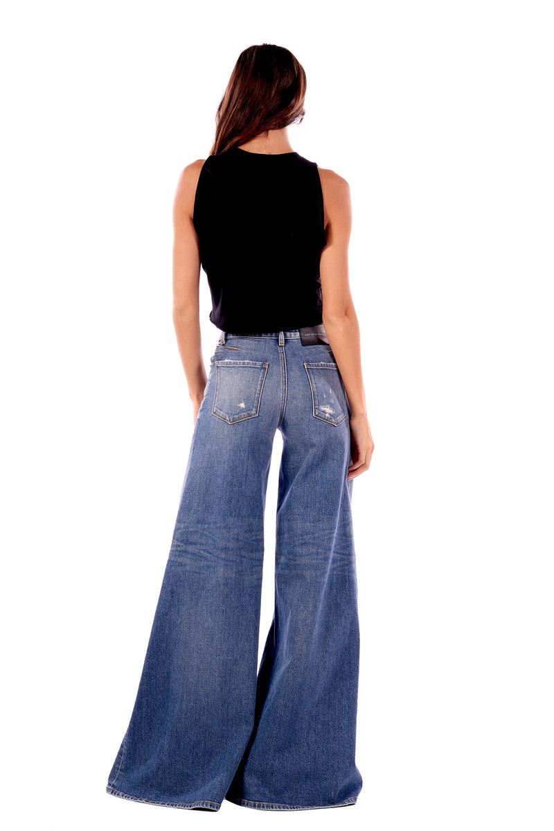 Stretch Denim Goucho Pant Quinn