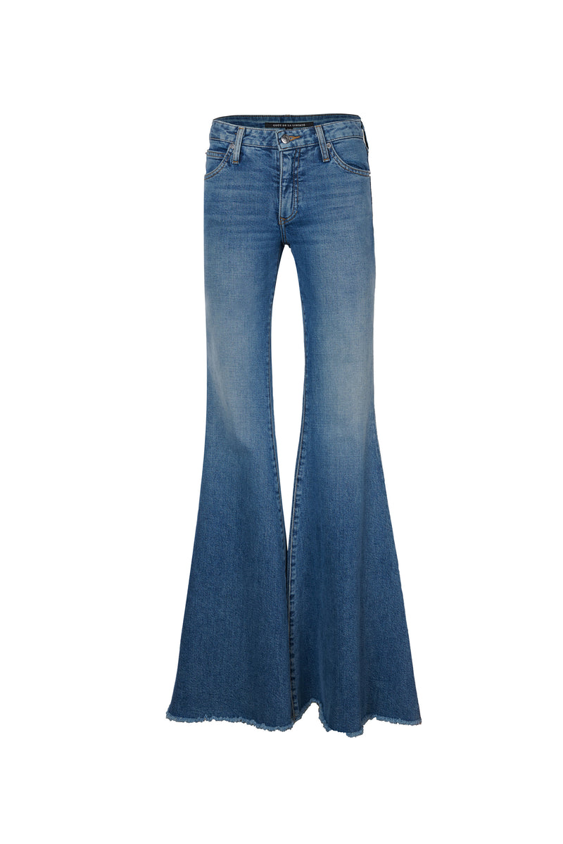 Stretch Denim Low Rise Super Flare Pant Bale