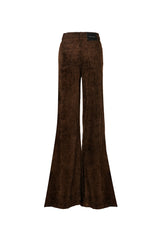 Wide Wale Cord Super High Rise Super Bell Pant Chocolate