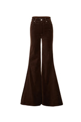 Stretch Velvet Super High Rise Super Bell Pant Chocolate