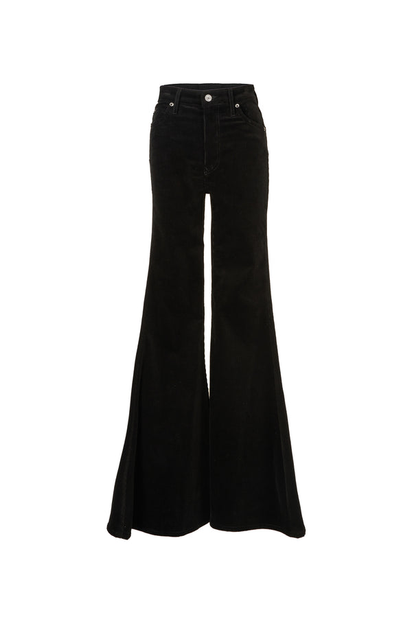 Stretch Cord Super High Rise Super Bell Pant Black