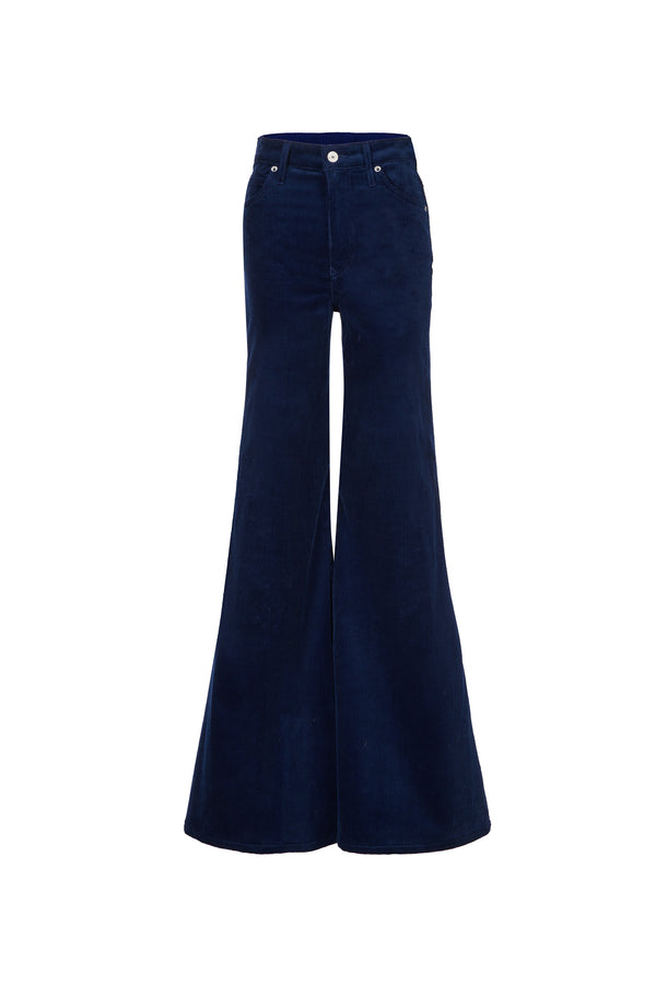 Stretch Cord Super High Rise Super Bell Pant Navy