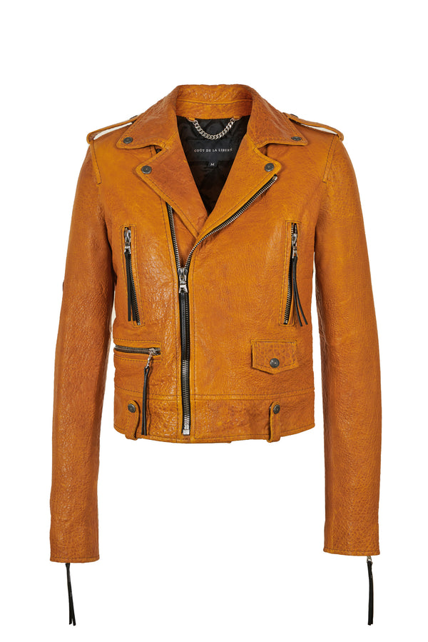 Caravaggio Moto Jacket Golden Yellow