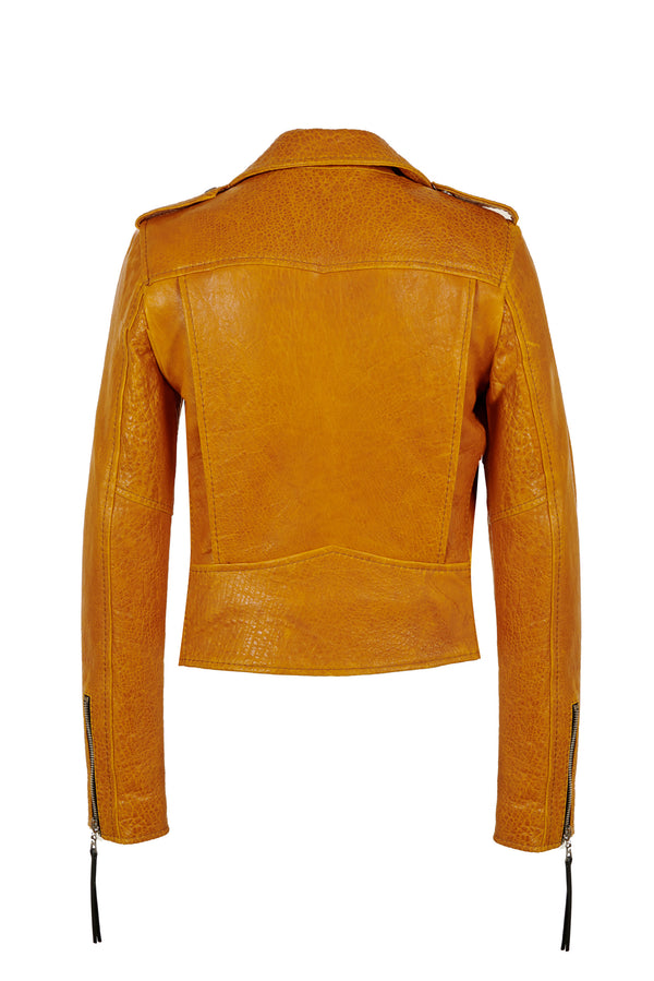 Cindy/ Caravaggio Moto Jacket Golden Yellow
