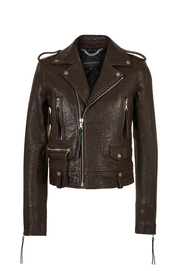 Cindy/ Caravaggio Moto Jacket Chocolate