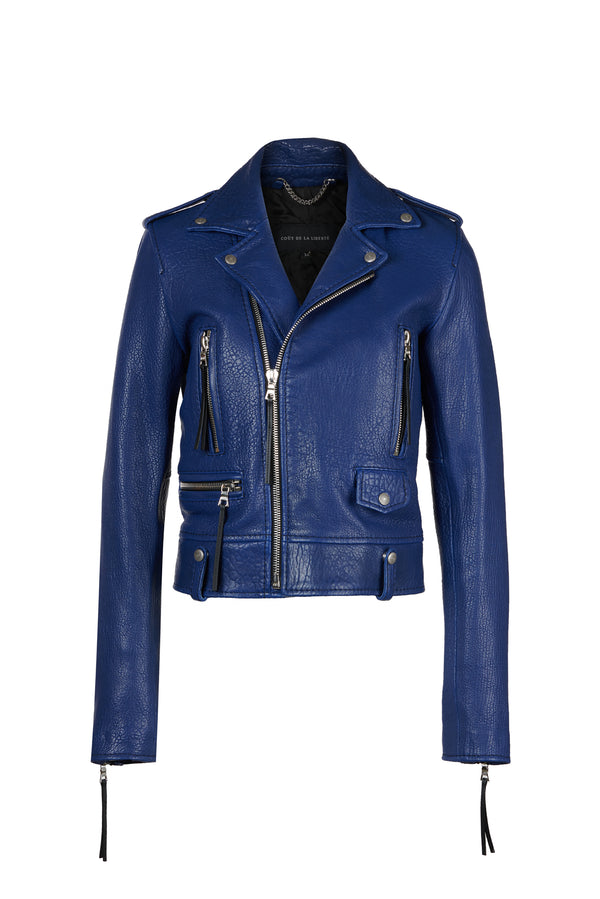 Cindy/ Caravaggio Moto Jacket Royal Blue