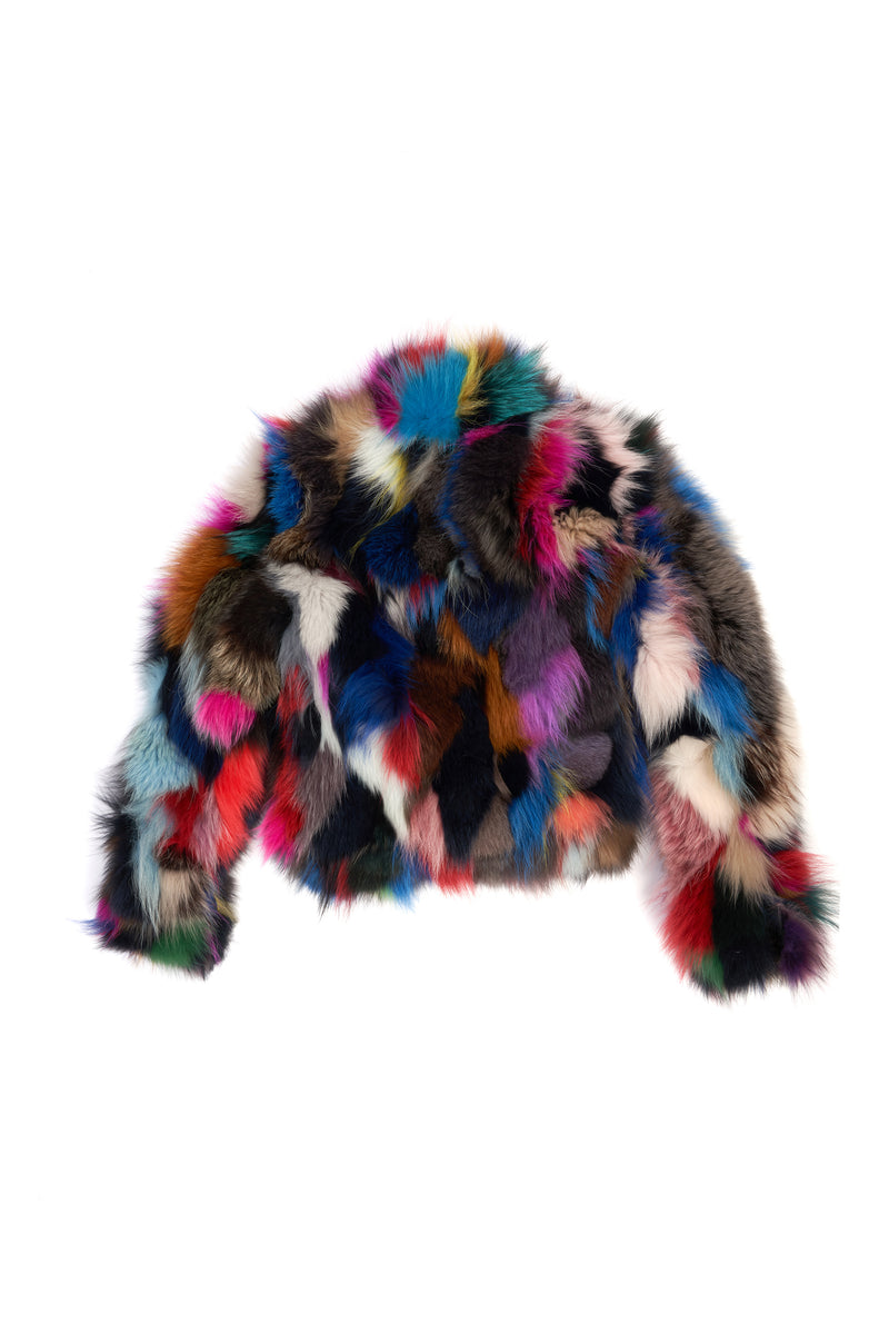 Fox Biker Jacket Multi Color