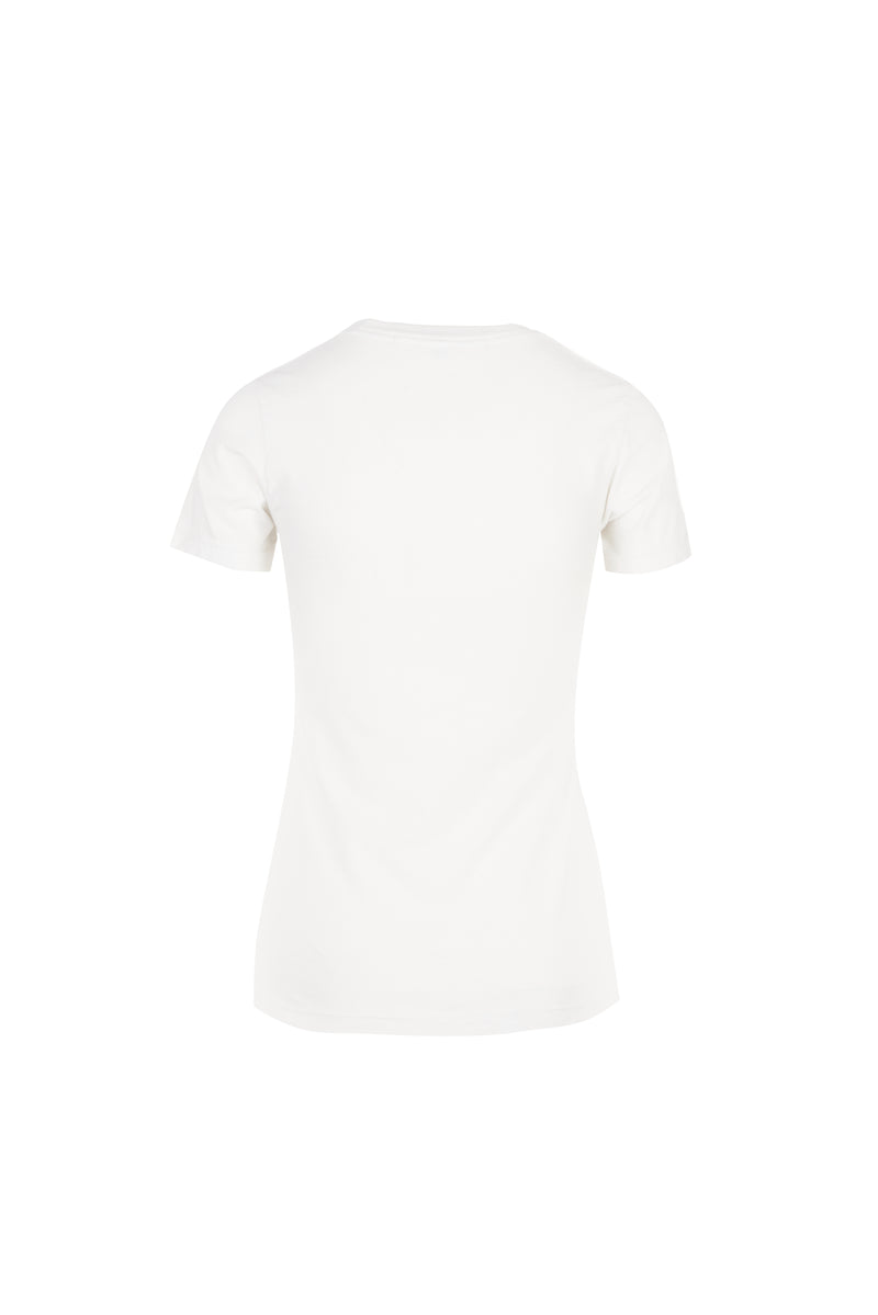 Kate/ Flocked CDFLL Cotton T-shirt Vintage White