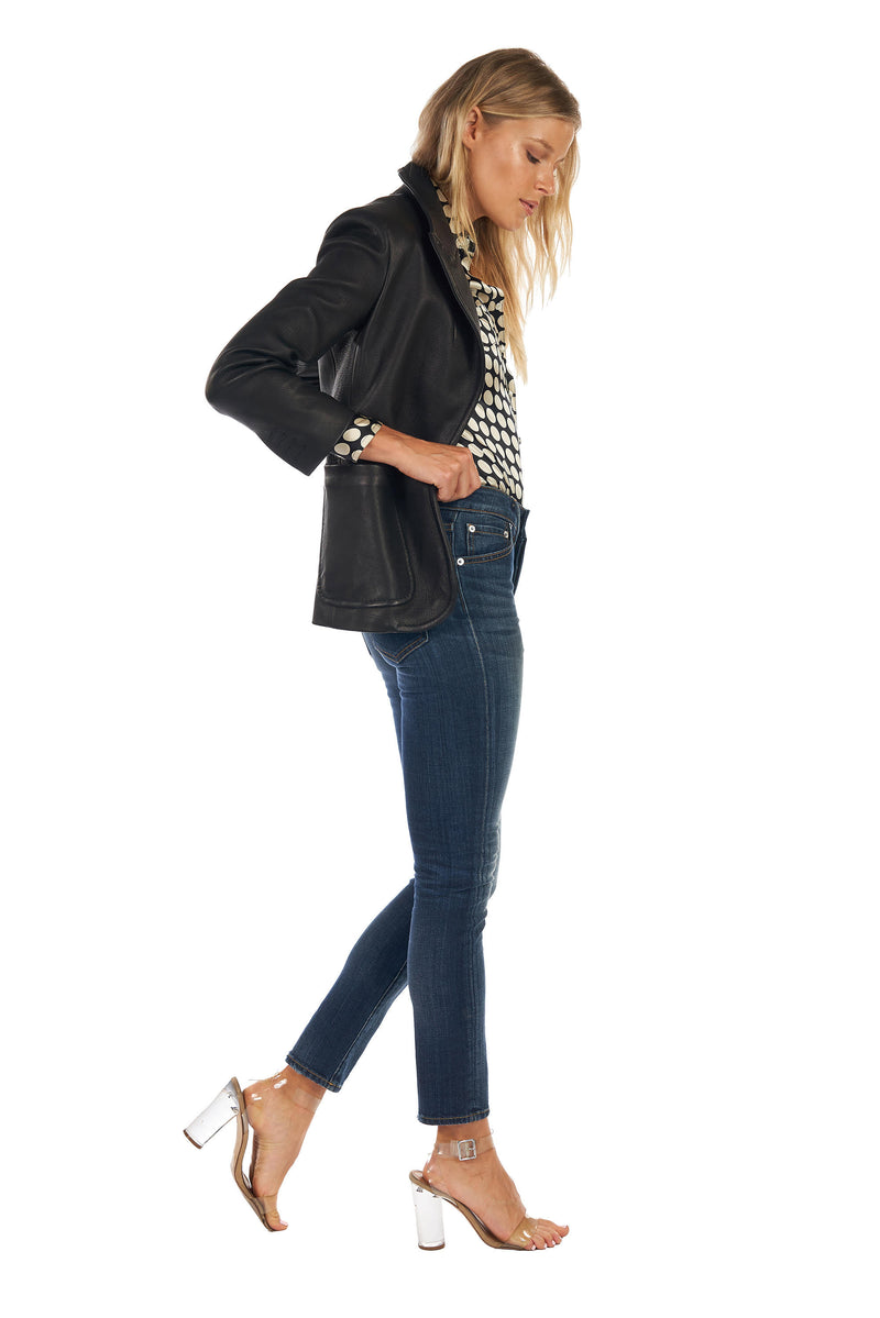 Stretch Baby G Blazer Black