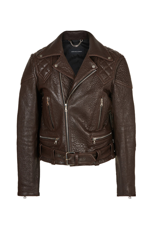 Vinny/ Caravaggio Moto Jacket Chocolate