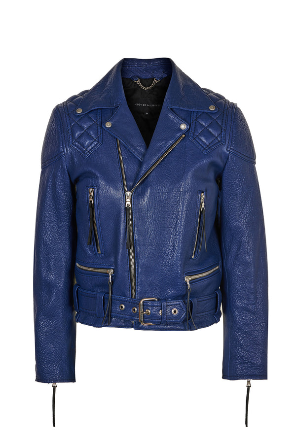 Caravaggio Moto Jacket Royal Blue