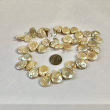 Load image into Gallery viewer, Light Gold / Champagne Freshwater Coin Pearls
