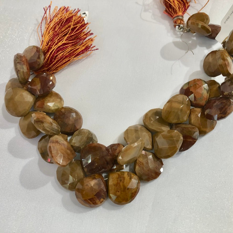 Large Brown Jasper Teardrop Shape Stones