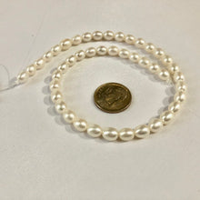 Load image into Gallery viewer, White Oval 5mm Round Freshwater Pearls