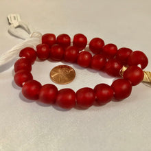 Load image into Gallery viewer, Cherry Red Recycled Glass Beads (14mm)