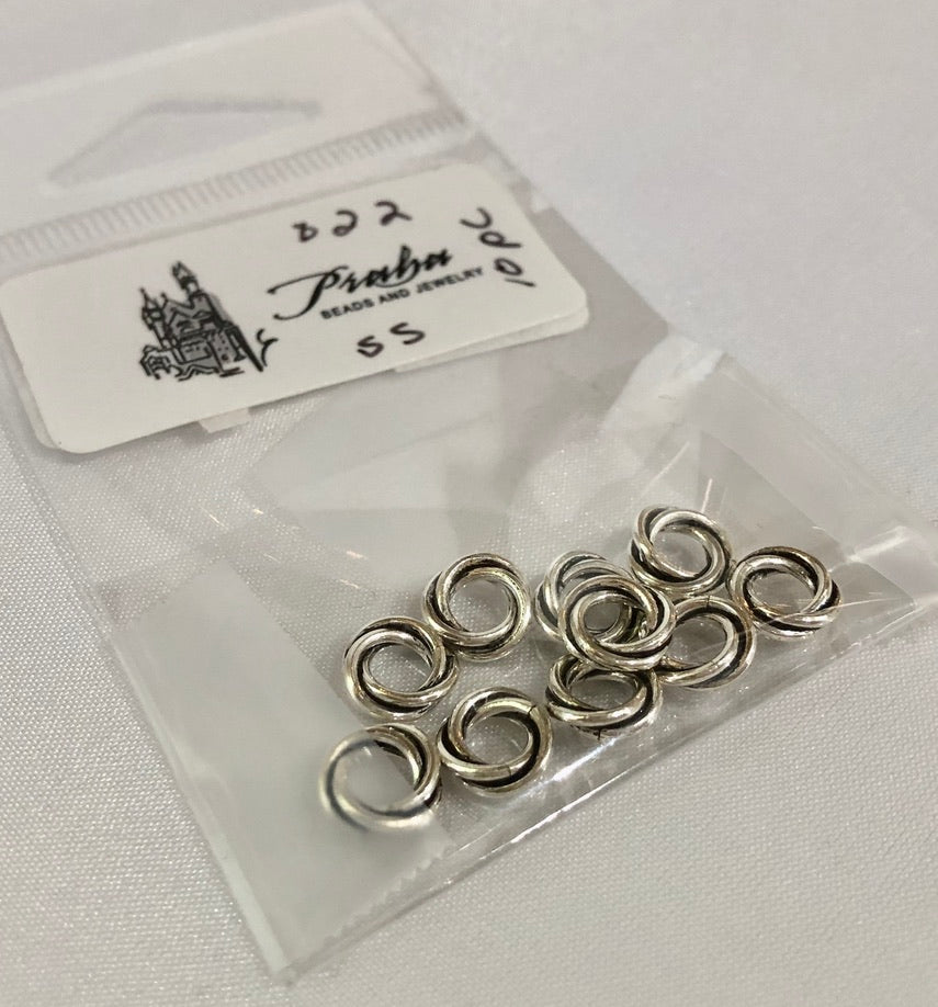 Bali Sterling Silver Double Antiqued Spacer Beads