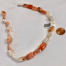 Load image into Gallery viewer, Orange and White Rectangle Agate Stones