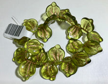 Load image into Gallery viewer, Czech Glass Flat Wide Leaf Beads