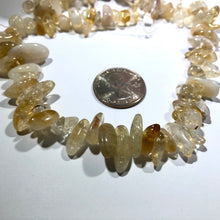 "Load image into Gallery viewer, Graduated Citrine Chip, 15"" Strand"