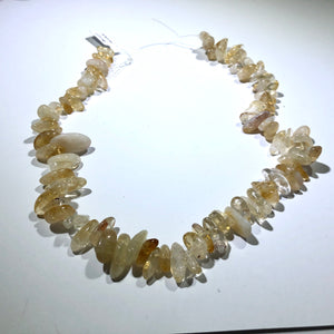 "Graduated Citrine Chip, 15"" Strand"