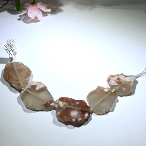 Natural Cherry Blossom Sliced Agate Stones