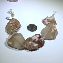 Load image into Gallery viewer, Natural Cherry Blossom Sliced Agate Stones