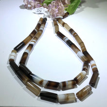 Load image into Gallery viewer, Natural Madagascar Agate Tube Beads