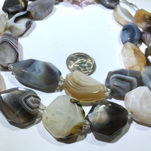 "Load image into Gallery viewer, Natural Botswana Agate Stones, 15"" Strand"