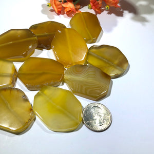 Huge Oval Golden Agate Stones