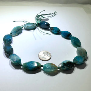 Large Bright Blue and Aqua Agate Oval Stones