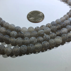 "Natural Weathered 8MM Agate Stones, 15"" Strand"
