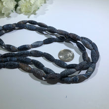 "Load image into Gallery viewer, Natural Weathered Rice Agate Stones, 14"" Strand"