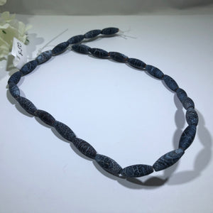 "Natural Weathered Rice Agate Stones, 14"" Strand"