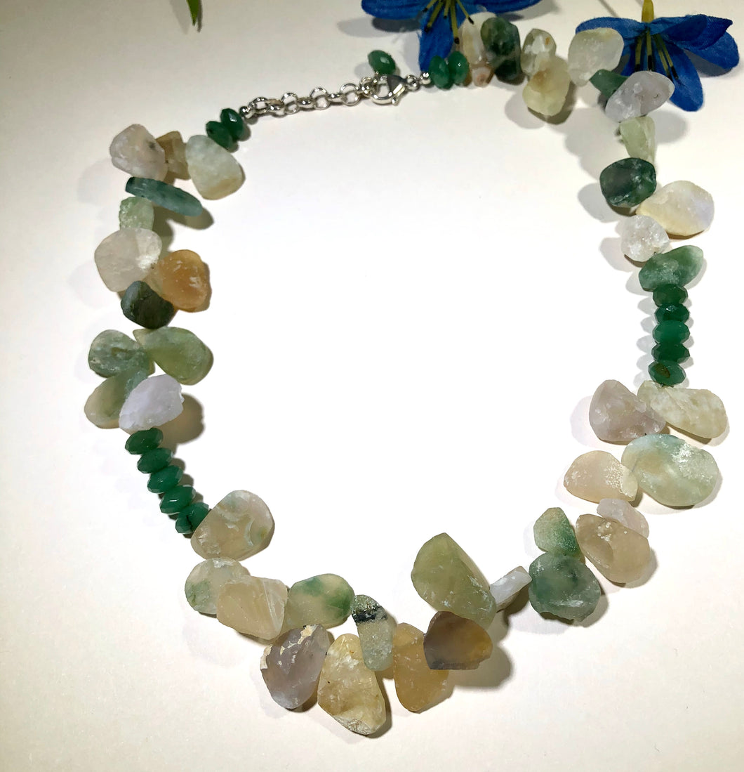 Ocean Jasper and New Jade Necklace