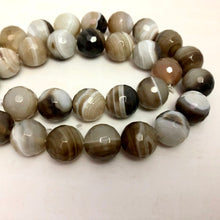 Load image into Gallery viewer, Natural Round Botswana Agate Strand, 12MM Round
