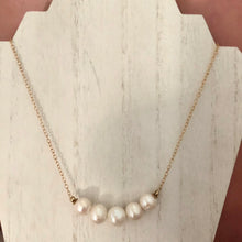 Load image into Gallery viewer, Large White Round Freshwater Pearl Necklace, Simple Graduated Pearl Necklace