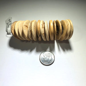 Coconut Shell, African Trade Bead, Coin