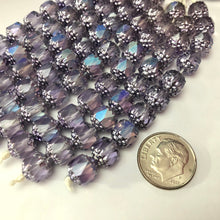Load image into Gallery viewer, Barrel Antique Lavender Cathedral Beads, 8MM