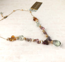 Load image into Gallery viewer, Green Amethyst Multi Gemstone Statement Necklace
