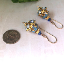 Load image into Gallery viewer, Vintage Austrian Blue Crystal Earrings