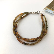 Load image into Gallery viewer, Autumn Colors Petite 3-Strand Sapphire Bracelet