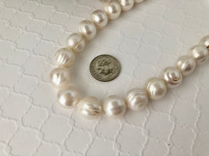 White-Ringed Round Freshwater Pearls, 12MM