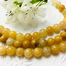 Load image into Gallery viewer, Yellow Jade Rounds, 10MM