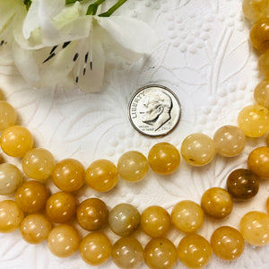 Yellow Jade Rounds, 10MM