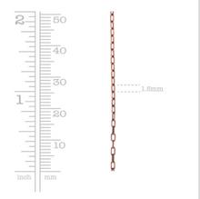 Load image into Gallery viewer, Nunn Design Textured Link Cable Chain Antique Silver, by the Foot