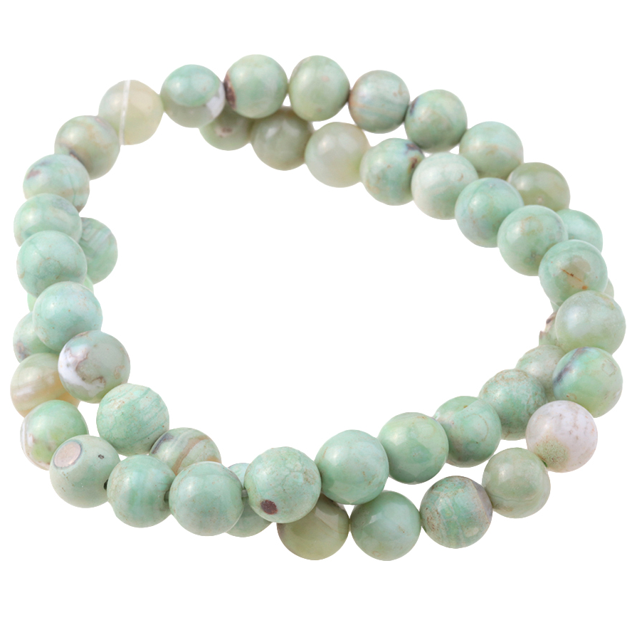 Green Terra Agate 8MM Round